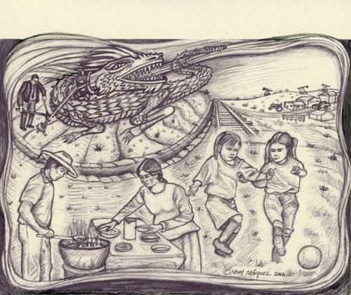No Nuclear Waste Aqui NM Summit artwork