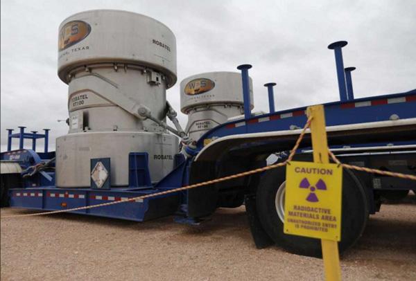 WCS radioactive transport casks