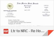 Letter to NRC